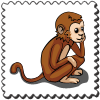 Monkey Stamp-icon