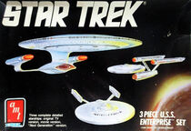 AMT Model kit 6618 3-piece USS Enterprise Set 1988