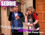 Seddie Serious Faces by SmartiesTubesAndCats