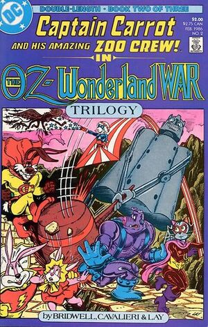 Cover for Captain Carrot and His Amazing Zoo Crew: The Oz-Wonderland War #2