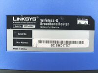 Linksys WRT54GS v7.0 FCCe