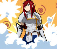 Erza tricked by Eve