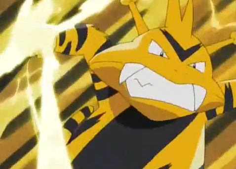 capitúlos de pokemon battle the kings 1ª temporada EP269_Electabuzz_de_Macey_usando_Pu%C3%B1o_trueno