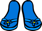 BlueFlowerFlipflops