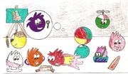 Puffles picture drawed