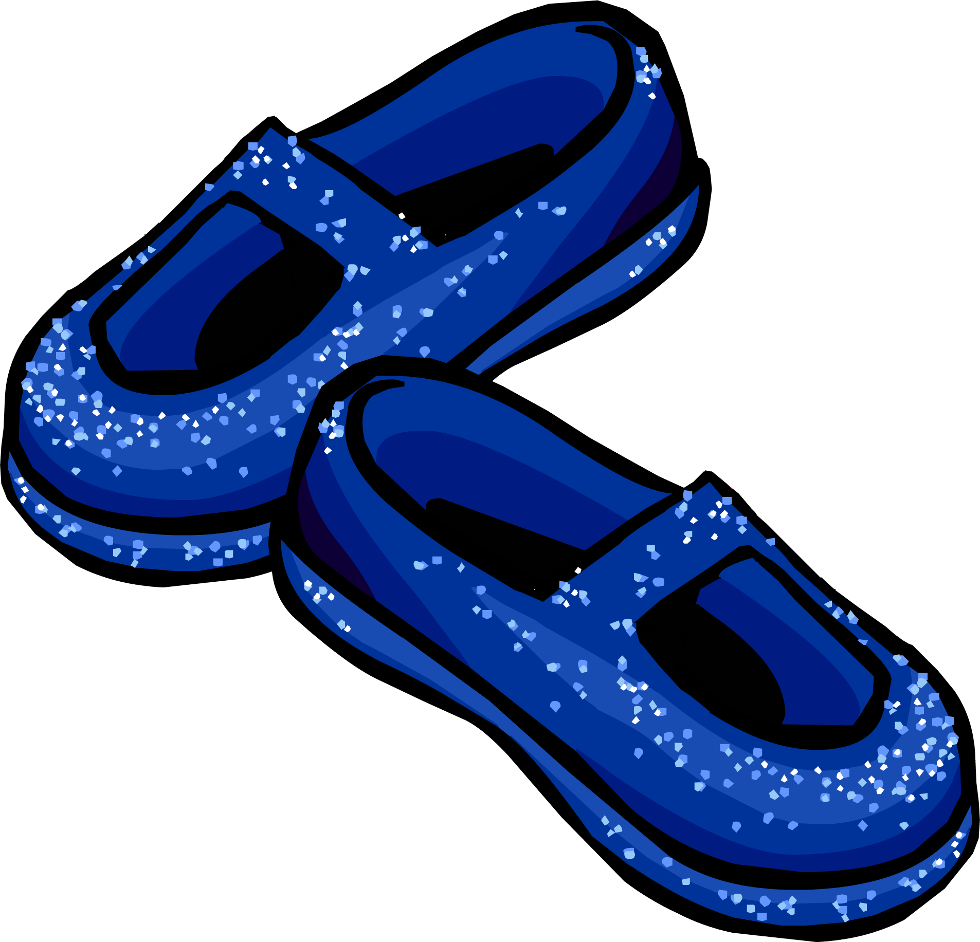 Blue Sparkly Shoes Club Penguin