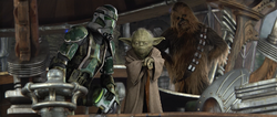 Yoda leidt de aanval op Kashyyyk