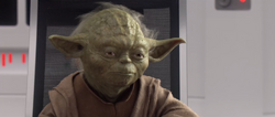 Yoda spreekt met Obi-Wan over Qui-Gon Jinn