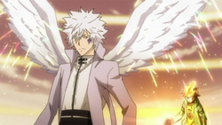 Tsuna Appears Behind Byakuran