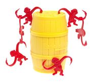 Barrel of Monkeys (Yellow Barrel) toy
