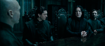 Snape & Voldemort discussing Harry Potter's whereabouts