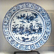 Faience with Chinese scenes Nevers Manufactory 1680 1700
