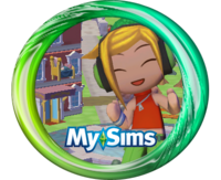 MySims DJ Candy Button