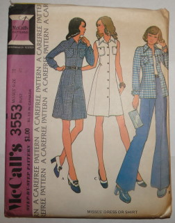 Vintage 1973 McCall's Apron And Tunic Pattern on Picsity