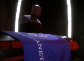 Sisko at Jadzia's coffin