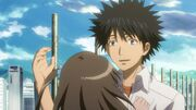 Touma carefull