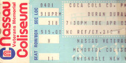 Duran duran ticket syn 264 DD19840001