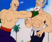 Master Roshi (on the right) in his 50 % max power form