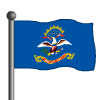 North Dakota Flag-icon