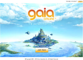 Gaiaonline homepage 2010 nov