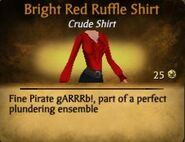 Bright Red Ruffle Shirt