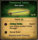 Tempered Sabre 2010-11-23