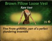 Brown Pillow Loose Vest