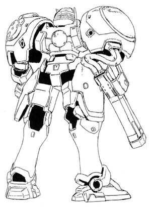 OZ-02MD Virgo Back View Lineart