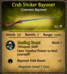 Crab Sticker Bayonet 2010-12-06