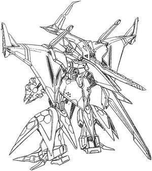 RX-104FF Penelope Back View Lineart