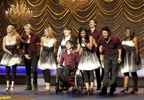 """Valerie"" sung by Santana with New Directions"