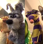 Alan the Dog puppets