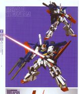 MSZ-010 ZZ Gundam with Beam Saber and Double Beam Rifle