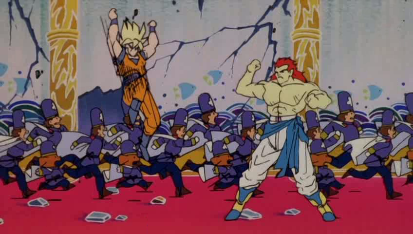 Goku fighting Bojack in one of the Dr. Slump movies