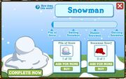 Facebook farmville freak snowman build screen