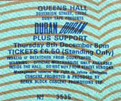 Ticket duran duran queens hall