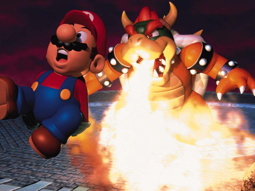 bowser and super mario