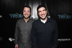 Edward Kitsis and Adam Horowitz and the TRON LEGACY and MySpace Party jpg