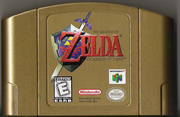 The Legend of Zelda - Ocarina of Time Gold Cartridge