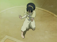 Toph's fighting stance