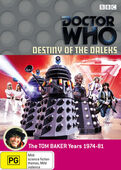 Destiny of the daleks australia dvd