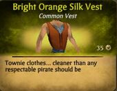 Bright Orange Silk Vest