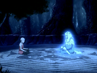 Aang speaks to Kuruk&#39;s spirit