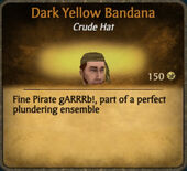 Dark Yellow Bandana