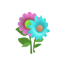 Flower Sticker (Aqua)1