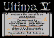 U5 Atari8bit Credits