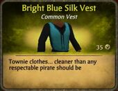 Bright Blue Silk Vest