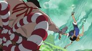 Luffy vs Sentomaru