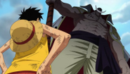 Barbablanca y Luffy