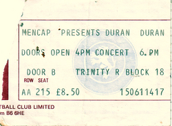 Ticket duran duran aston villa